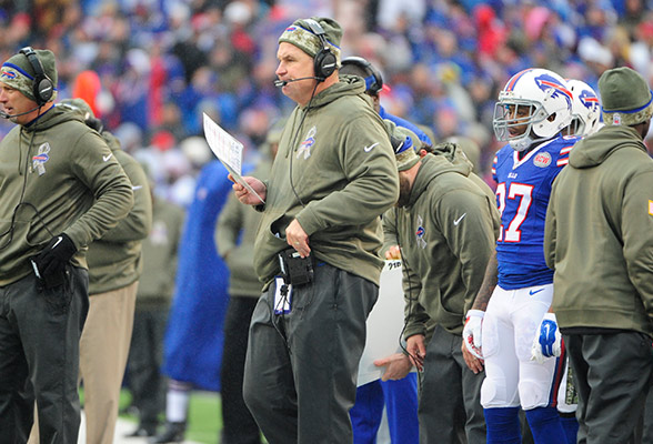 92834ae7a46 The NFL and USAA announced the nominees for the fourth annual Salute to  Service Award, and head coach Doug Marrone received the Bills nomination.