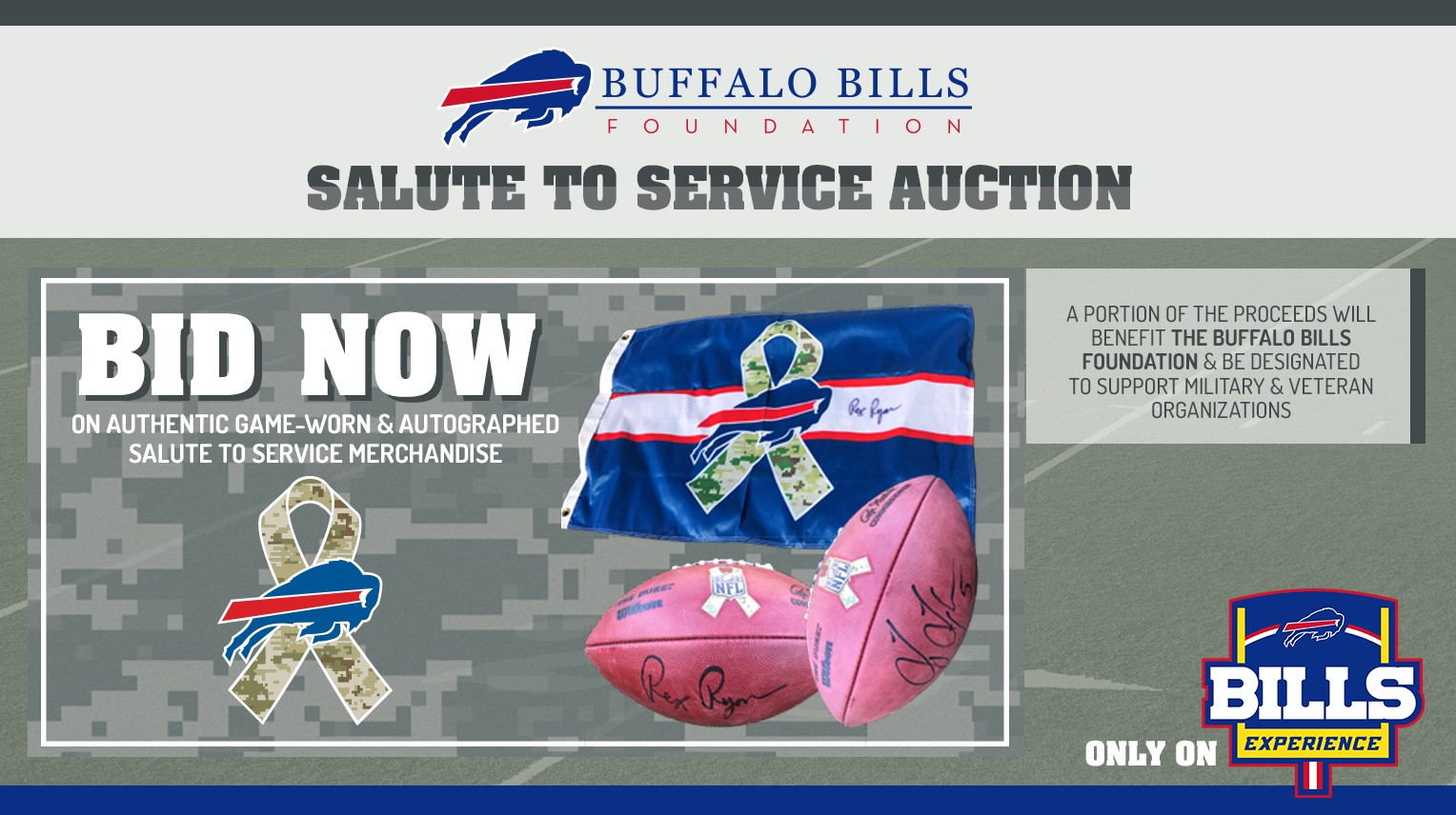 reputable site ec1ed 26622 Game-worn jerseys available on Salute to Service auction ...